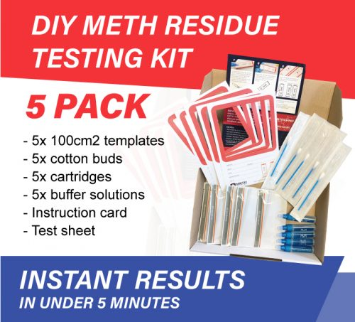 5 pack diy meth residue testing kit