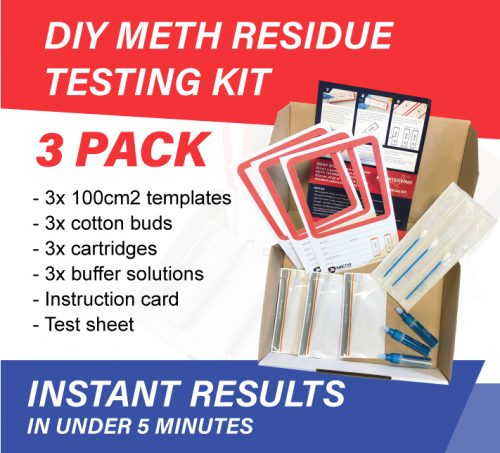 3 pack diy meth residue testing kit for house