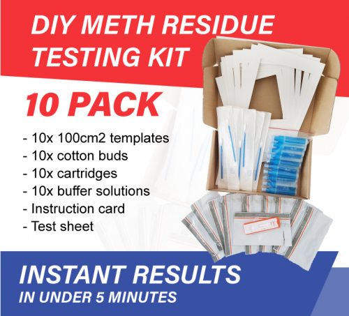 10-pack diy meth residue test kit for homes and vehicles