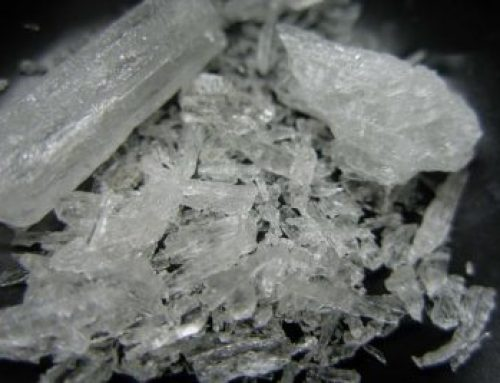 How do you clean a surface meth residue in a house?
